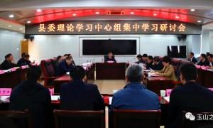 郑国良主持召开县委理论学习中心组集中学习研讨会